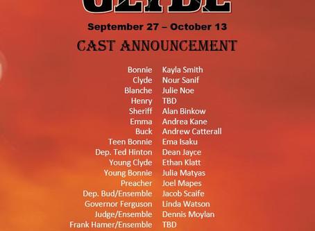 Bonnie & Clyde Cast Announcement