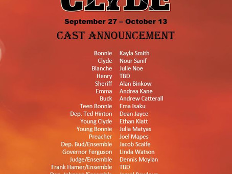 Bonnie & Clyde Cast Announcement