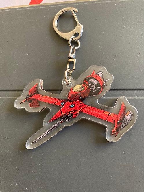 """""""Swordfish II"""" acrylic keychain"""