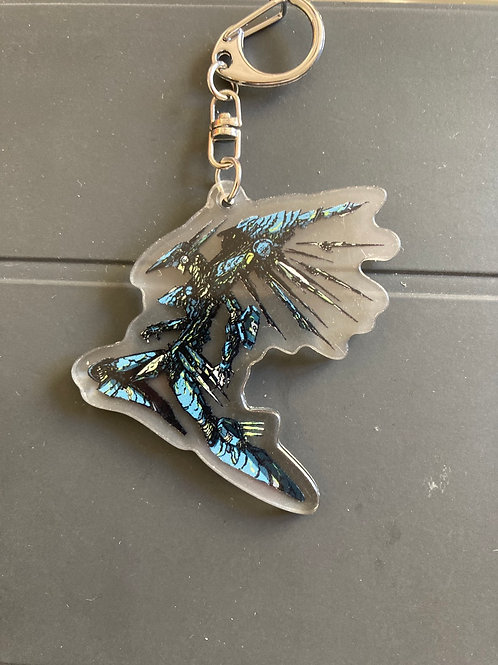 Jehuty acrylic keychain