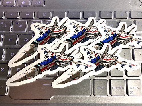 "5 pcs 2""x4"" Vinyl Sticker VF-1J Valkyrie"