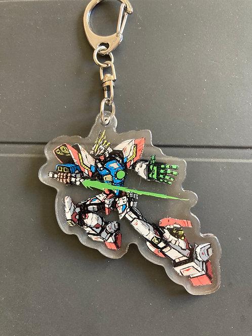Shining Gundam acrylic keychain