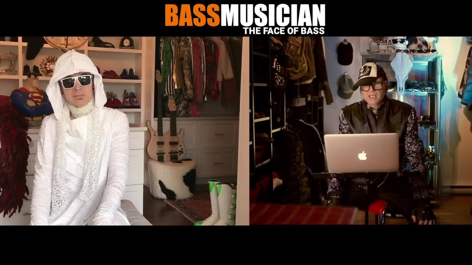 BASS FROM INSIDE THE CLOSET WITH FREEKBASS Here is part 2 of the Freekbass interview that talks about the Magic of dressing for the part as well as some really cool tips and tricks and close up view of his Stonefield custom double neck bass. Part 3 w