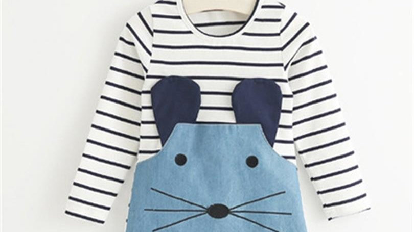 Long Sleeve Cute Mouse Dress