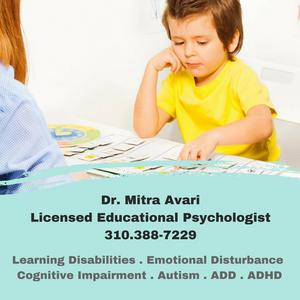 MITRA AVARI - EDUCATIONAL PSYCHOLOGIST - FUN WITH KIDS IN LA (SPONSORED)