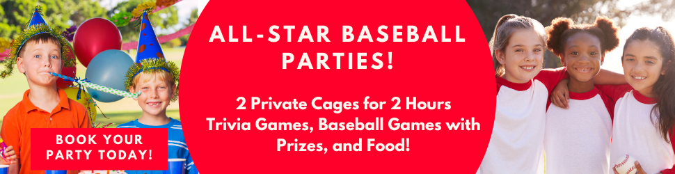 ALL STAR BASEBALL KIDS PARTIES - BIRTHDAYS