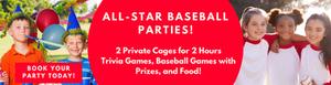 ALL STAR BASEBALL KIDS PARTIES - BIRTHDAYS