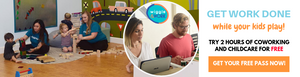 Wiggle & Work - 2 hour free coworking + childcare - fun with kids in LA