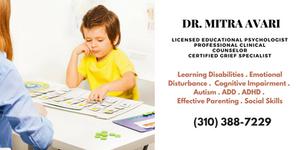 Learning Disabilities, Child Therapist in LA, ADD, ADHD