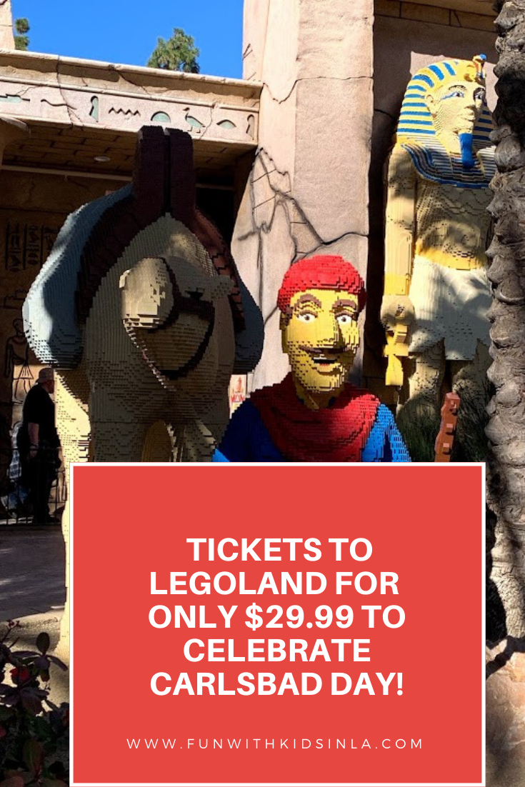 DISCOUNTED TICKETS AT LEGOLAND TO CELEBRATE CARLSBAD DAY