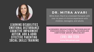 Dr. Mitra Avari, Effective Parenting, Social Skills Training