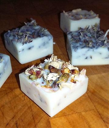 Badewürfel Venus mit Mandel- und Lavendelblüten, 4er Set