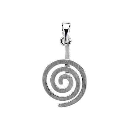Donuthalter Spirale,925er Silber matt
