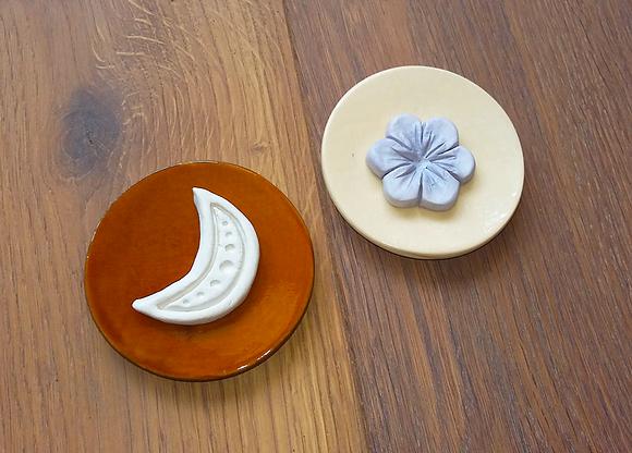 Keramikteller rund für Duftsteine