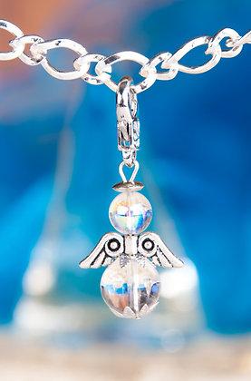 Harmonie-Engel Charm Bergkristall