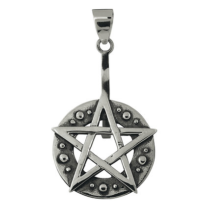 Donuthalter Pentagramm aus 925er Silber