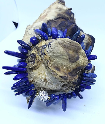 Edelstein-Armband mit Lapislazuli