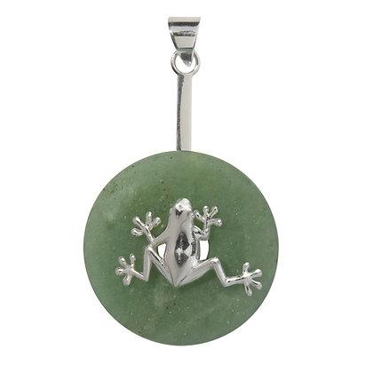 Donuthalter Frosch aus 925er Silber