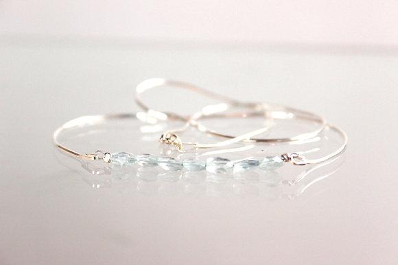 Edles Silber-Collier mit Aquamarin