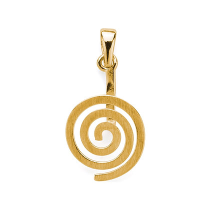 Donuthalter Spirale, vergoldet matt - 30mm
