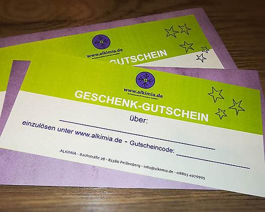 ALKIMIA-Geschenkgutschein 50 €