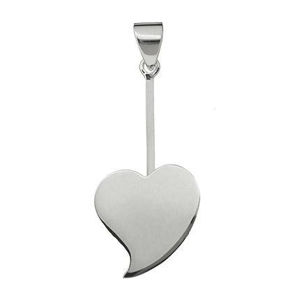 Donuthalter Herz aus 925er Silber