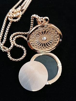 Traumfänger-Medaillon mit Perle