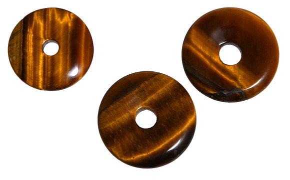 Tigeraugen-Donut mit Lederkette