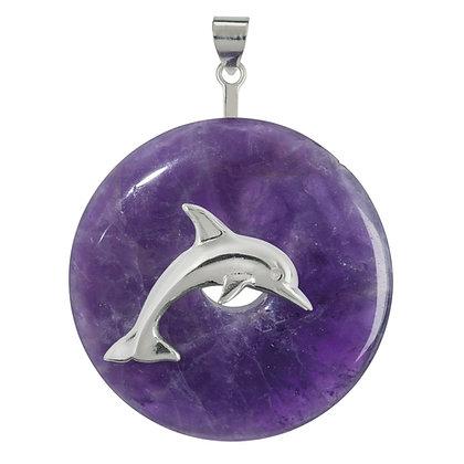 Donuthalter Delfin aus 925er Silber