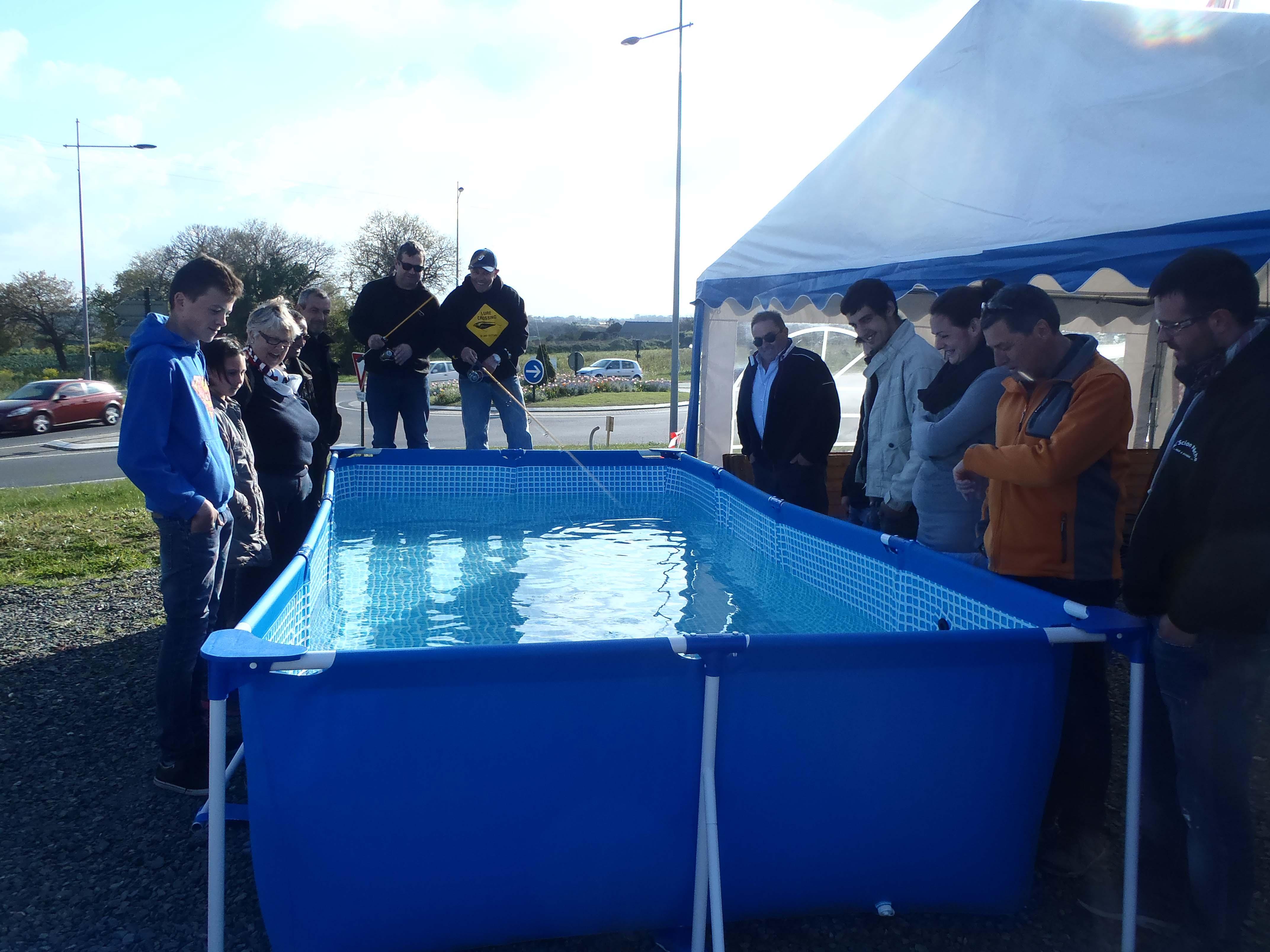Entraînement de pêche en piscine!