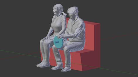Fertige 3D Datei im Originalmasstab