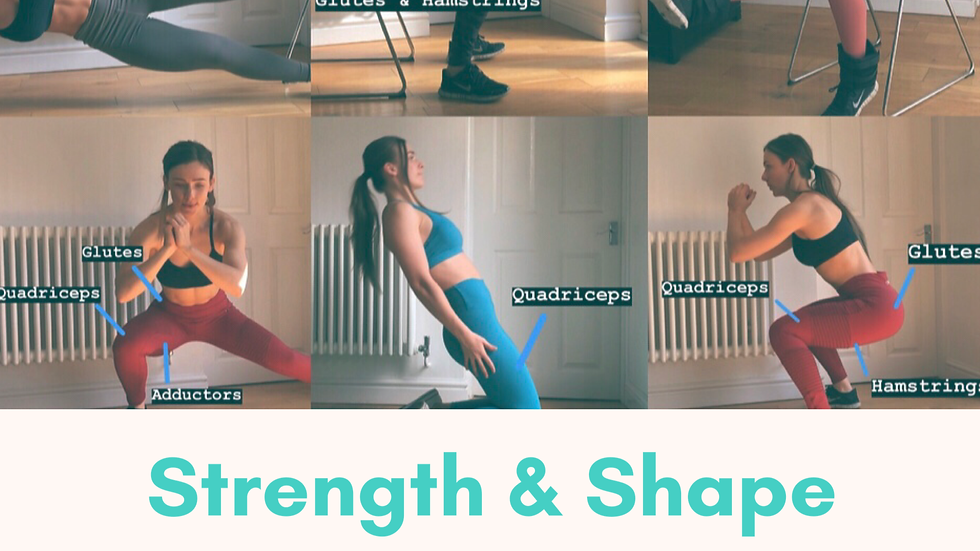 Strength & Shape Plan / Lower body focused / Home & Gym based