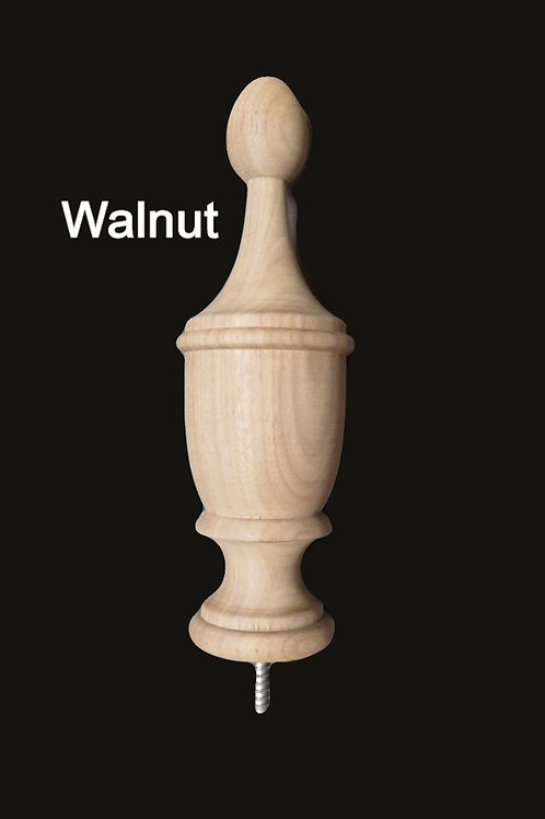 Wood Bedpost or Furniture Finial. 7 3/8H, 2 1/4W Choice of species #98