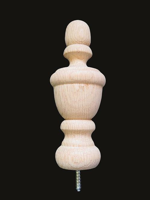 Oak Wood Finial 5 x 1 7/8.  #10