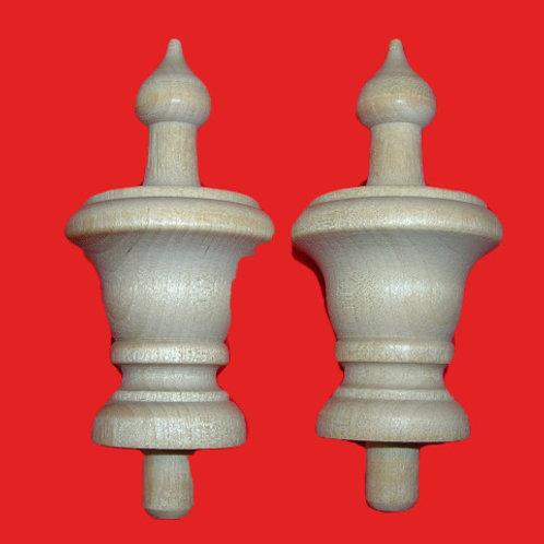 2 Acorn Top Wood Finials 2 3/4 x 1 1/2. Wood Craft. #8