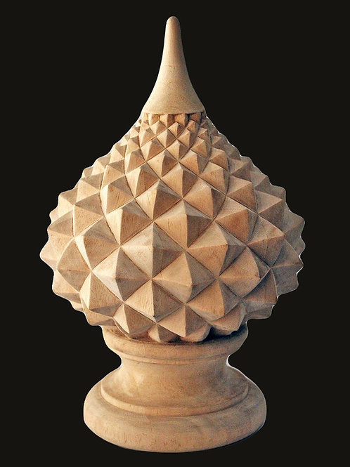 SALE! $100 OFF! Master Carved Wood Finial. Romanesco Spiral Finial. 2 Sizes.