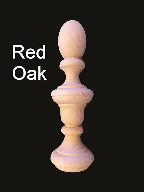 10 x 2.5 Wood Finial. Choice: Cherry-Mahogany-Hard Maple-Red Oak-Walnut-#22