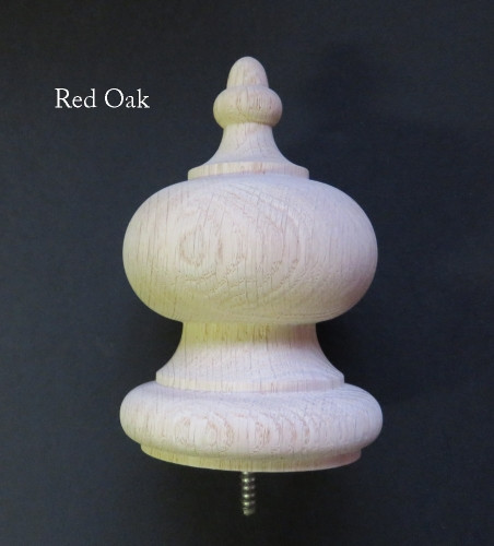5 1/2 Inch High Finial. Wooden Clock, Bed Post, Newel Or Craft Finial. Your  Choice: Hard Maple, Red Oak Or Cherry. Solid Construction.