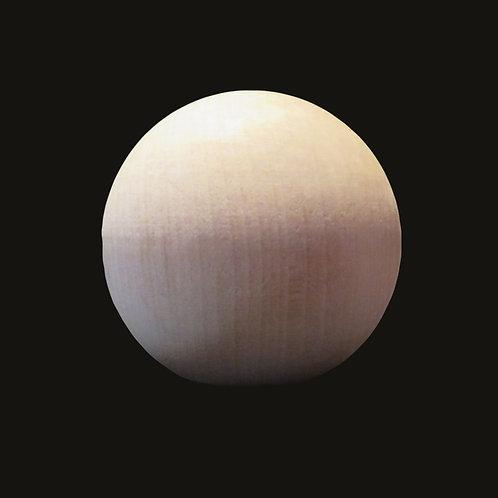 "Birch Ball or Craft Finial. Paint Grade. 3"" Ball. Flat spot for mounting. #13"
