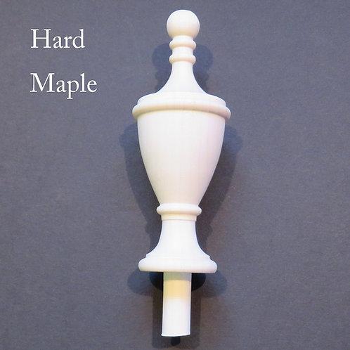 Wooden Finial bed post. 4 3/4 x 1 3/4 Choice Oak Maple Cherry Mahogany Walnut 44