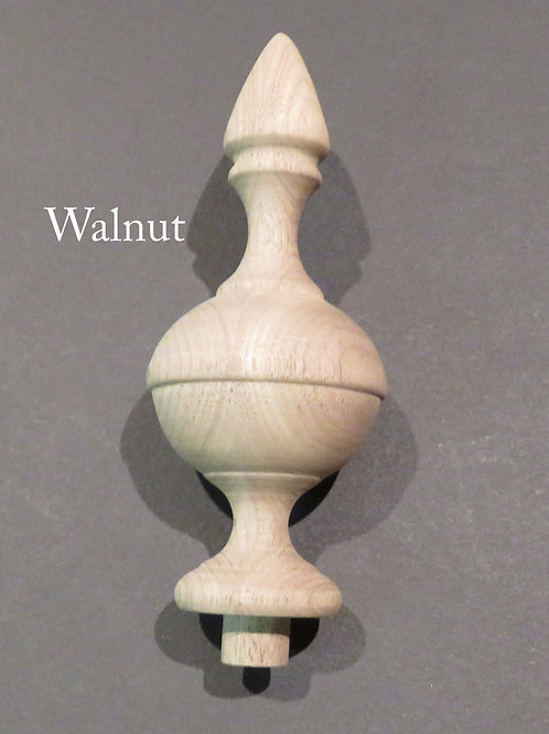 "Wooden Finial bed post 5 "" Wood Choice Oak Maple Cherry Walnut or Mahogany #65"