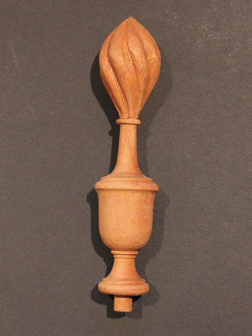 New Old Stock Mahogany Wood Spire Finial 7 1/4 x 1 5/8. #74