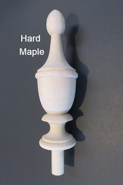 7 3/8 x 2 1/4 Wood Finial. Choice: Maple Oak Cherry Mahogany. #71