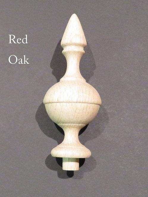 "Wooden Finial bed post 5 "" Wood Choice Oak Maple Cherry Walnut or Mahogany #65"