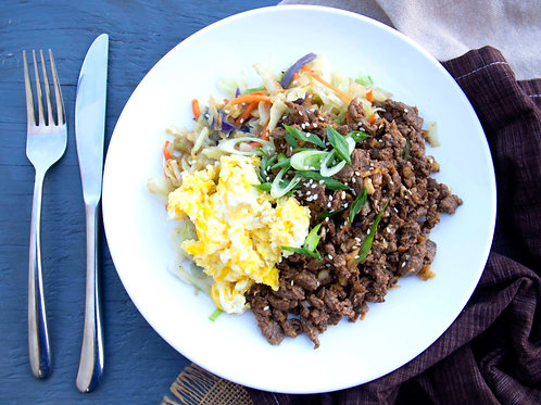 Egg Roll Beef Bowl