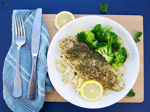 Parmesan Herb Crusted Baked Fish