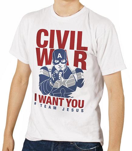 Camisa Team Capitão America