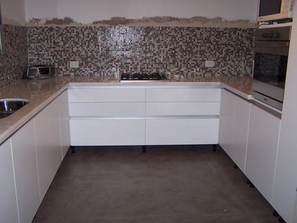 Cocina Laqueada - Obra