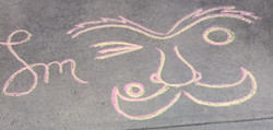 Larry's logo in chalk.jpeg
