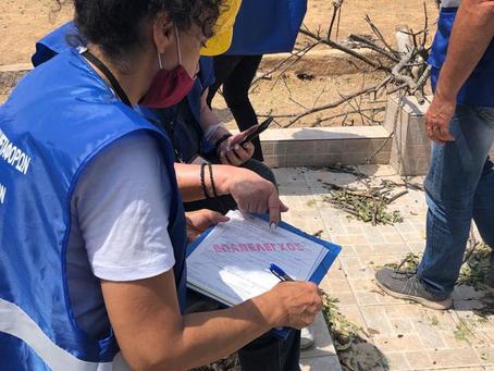 Οι μηχανικοί του υπουργείου Υποδομών στην Κρήτη